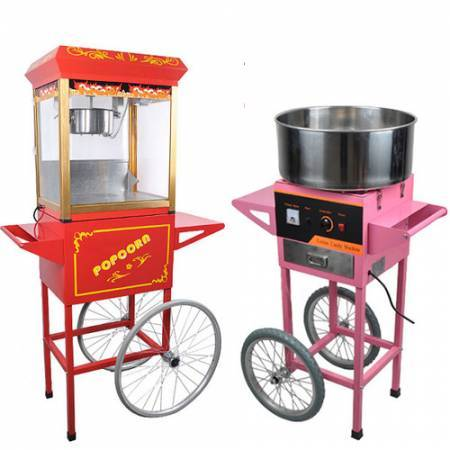 Candy Floss And Popcorn Machine Rental Little Red