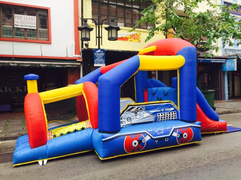 $418 - Dimension: 5m x 3m x 2.5m (H) - Up to 8 Children - Rates for 4 hours session