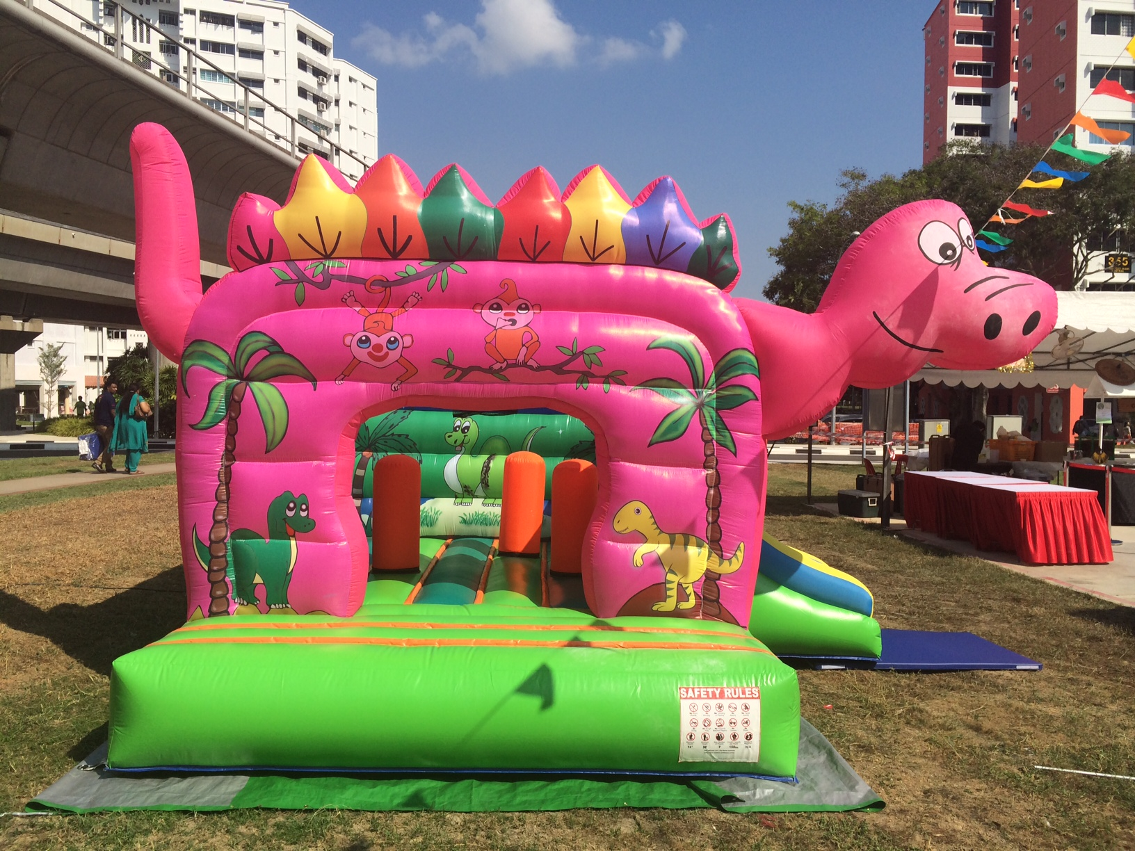 $480 - Dimension: 5m x 4m x 3m (H) - Up to 10 Children - Rates for 4 hours session