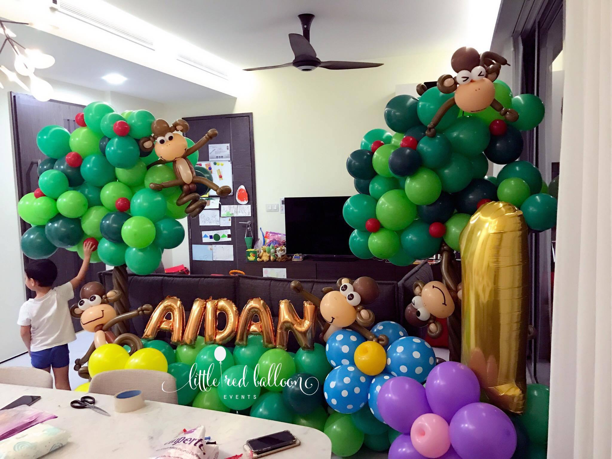 Affordable balloon decoration packages little red for Balloon decoration packages manila
