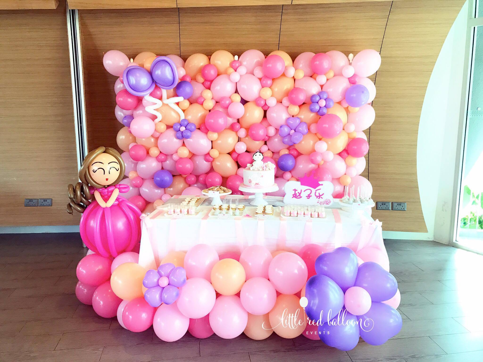 Princess Themed Decor Backdrop | Little Red Balloon Singapore