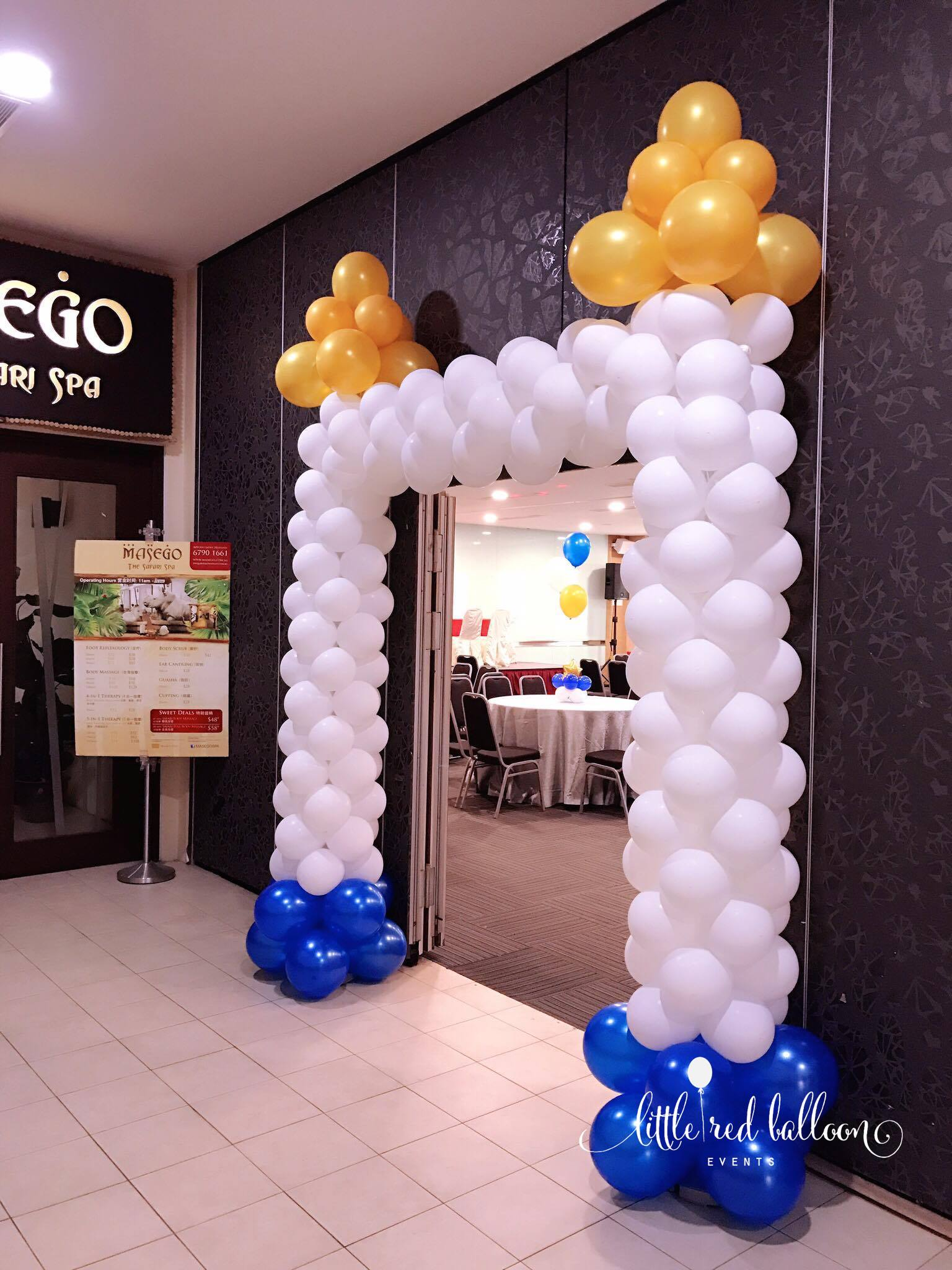 Premium balloon arch in singapore little red balloon for Balloon decoration packages