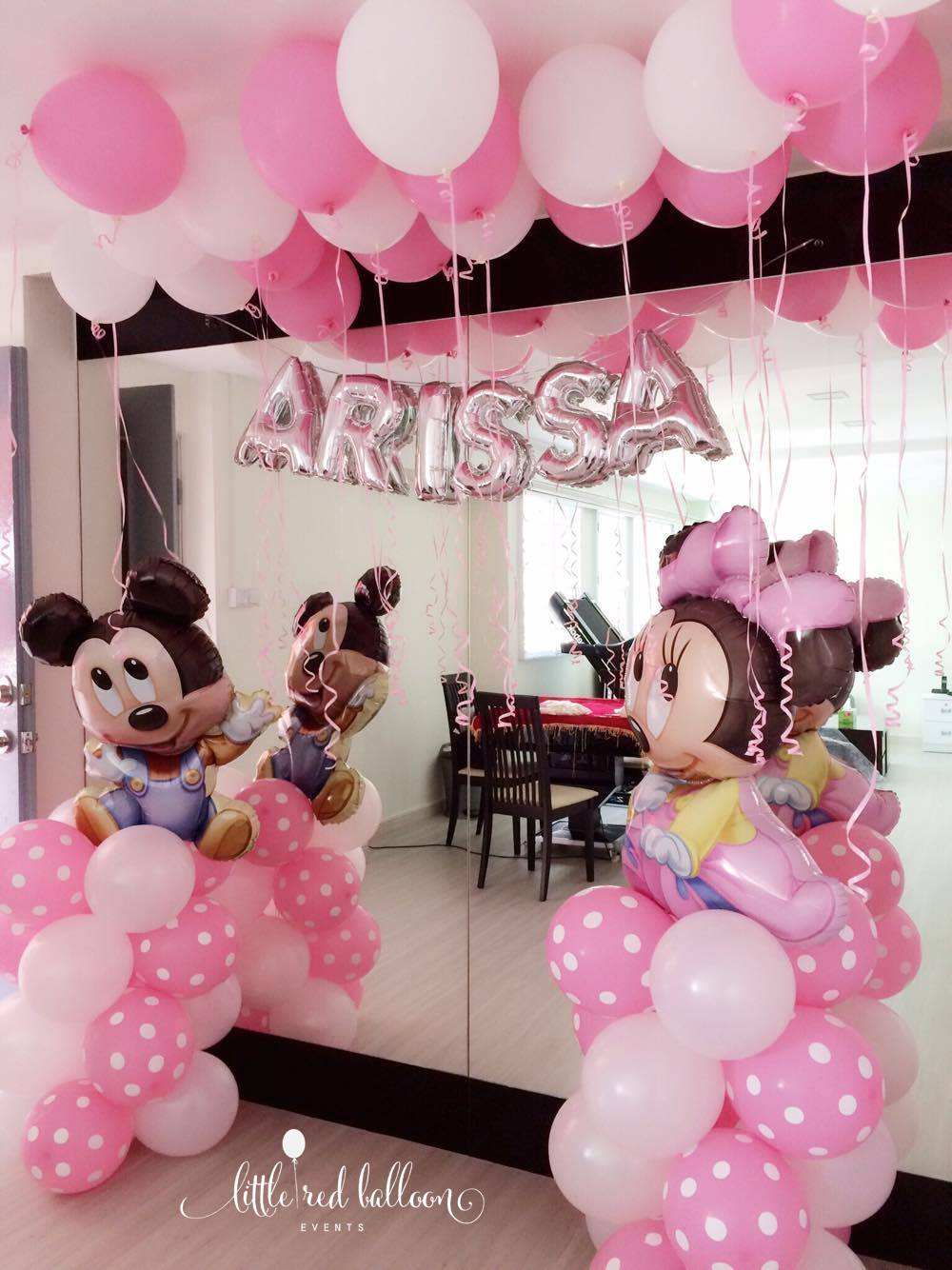 Mickey And Minnie Mouse Balloon Column Little Red