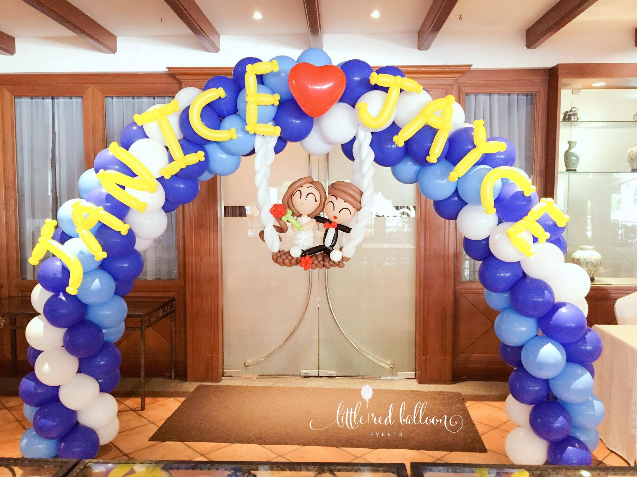 Balloon arch for wedding - Wedding Couple Balloon Arch