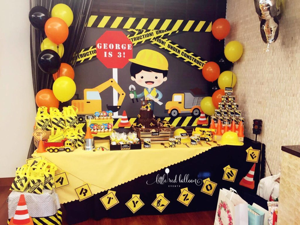 Construction Dessert Table Set Up